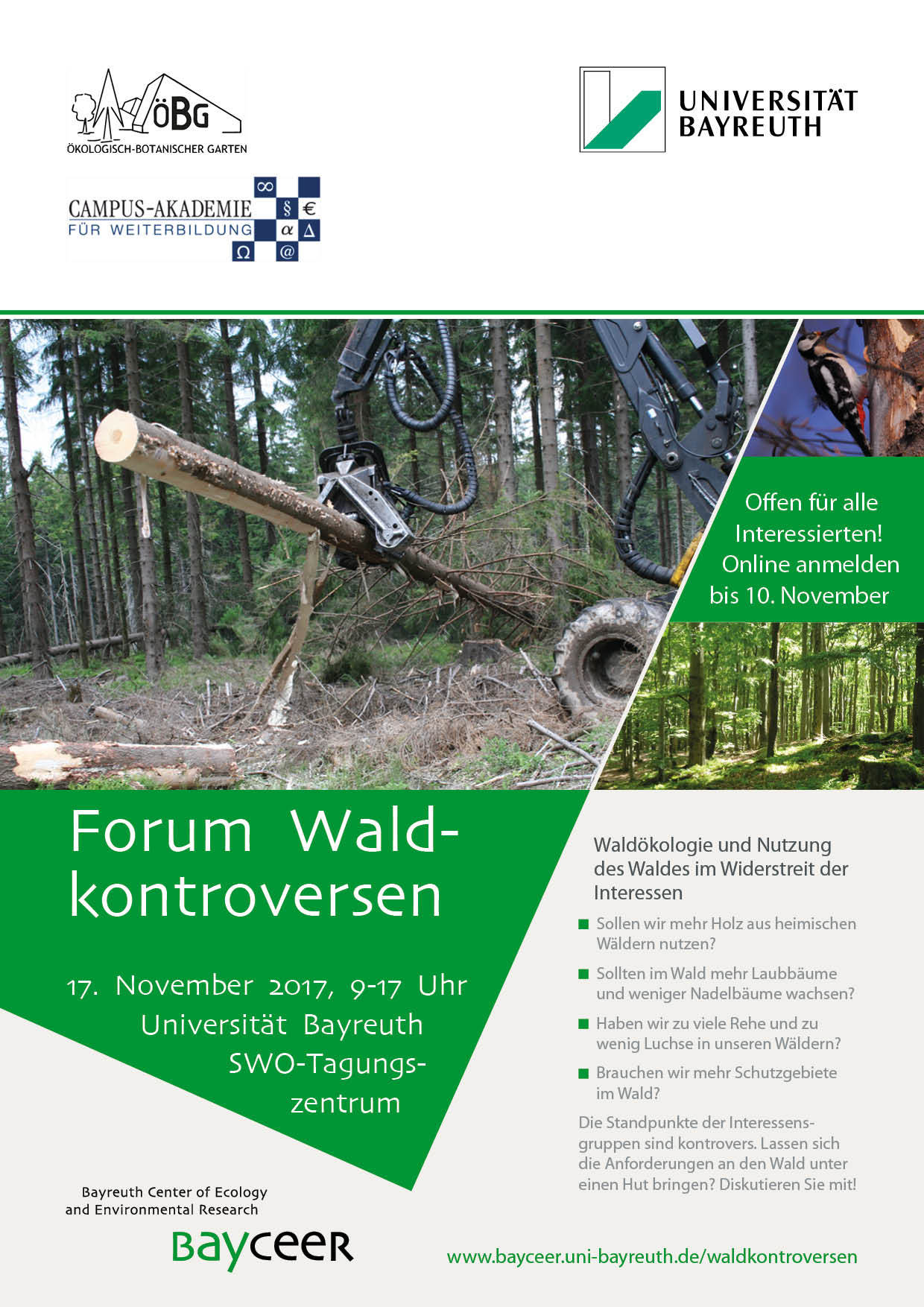 Waldkontroversen-Aushang